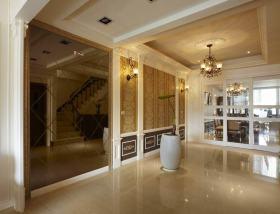 黄色欧式风格玄关装饰设计图片