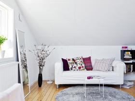 宜家风格时尚白色客厅装修美图