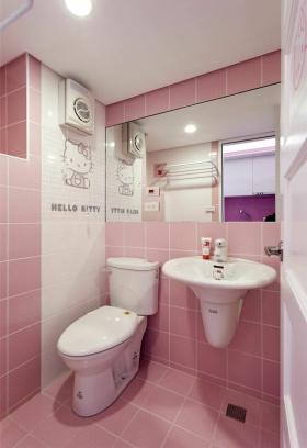 粉色甜美宜家卫生间装修效果图片