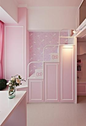 简约粉色可爱儿童房楼梯装修设计