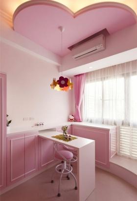 粉色简约风格吧台装修设计图片