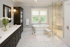 浪漫精致美式风格白色卫生间美图赏析