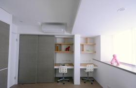 灰色儿童书房装饰案例