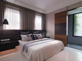 现代风格灰色休闲卧室图片欣赏