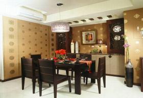 褐色中式风格餐厅装修图片欣赏