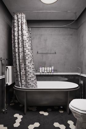 现代工业风灰色卫生间设计赏析