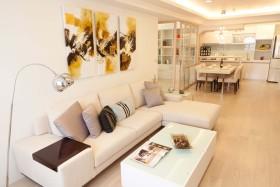 宜家休闲米色客厅设计欣赏