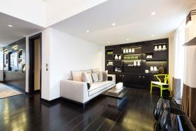 黑色时尚现代风格客厅设计赏析