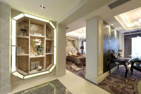 新古典风格米色装饰柜效果图
