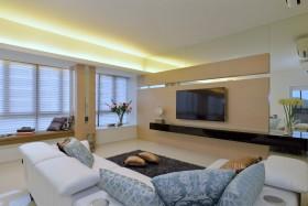 现代风格暖色调客厅吊顶图片赏析