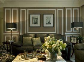 简欧绿色客厅设计美图