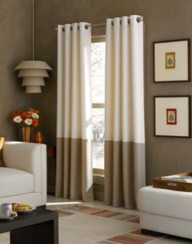 混搭风格窗帘装潢案例
