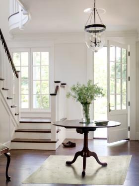 简欧时尚白色客厅推拉门设计案例