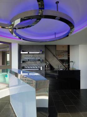 时尚蓝色现代风格吊顶设计欣赏
