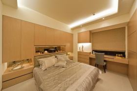 现代风格温馨黄色卧室效果图赏析