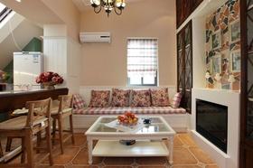米色田园风格客厅装修美图欣赏