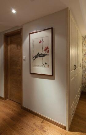 米色新中式风格过道墙面设计欣赏