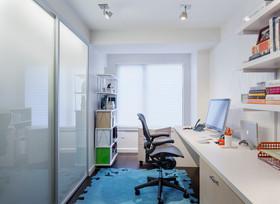 白色简约风格书房装修效果图赏析