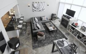 简欧风格灰色客厅美图欣赏