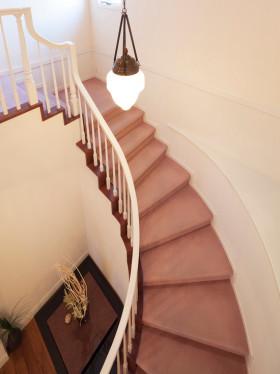 米色休闲混搭楼梯装修效果图片