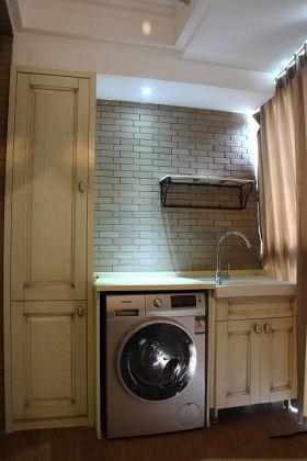 混搭风格阳台洗衣机柜效果图设计