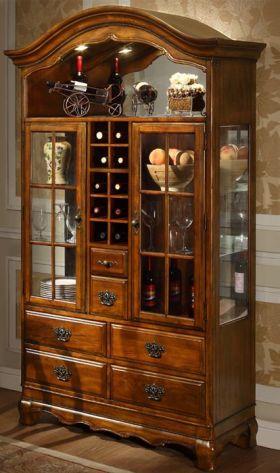奢华欧式风格酒柜装饰图
