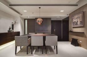 灰色新中式风格餐厅装饰案例