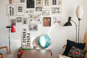 时尚创意混搭照片墙装饰图