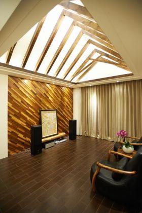 大气时尚创意东南亚风格客厅吊顶欣赏