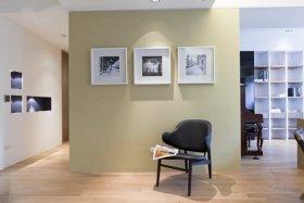 宜家浅绿色照片墙效果图设计