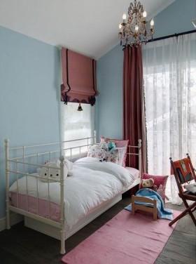 浪漫温馨蓝色美式儿童房设计图