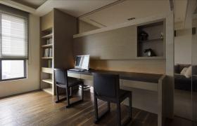 现代风格灰色时尚书房效果图设计