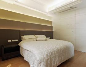 现代拼接卧室背景墙设计图