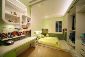 绿色清新创意现代风格儿童房装饰案例