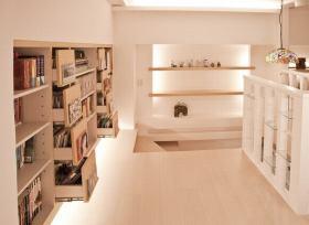 米色创意简约书房装潢设计