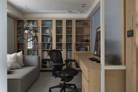 现代原木色书房装饰案例