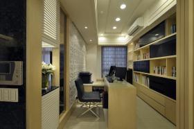 米黄色现代风格书房装潢