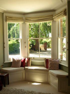 自然清新浪漫舒适田园风格飘窗设计装潢