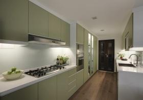 混搭灰绿色橱柜设计案例