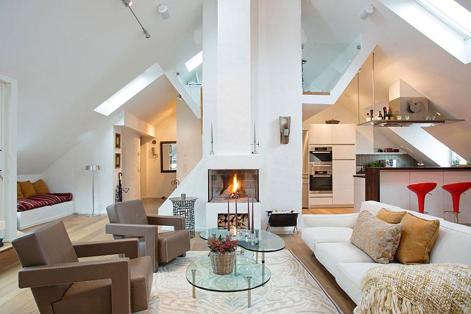 白色浪漫自然北欧风格客厅装潢效果图设计