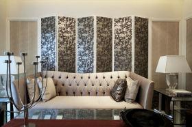 欧式风格米色时尚客厅沙发设计装潢