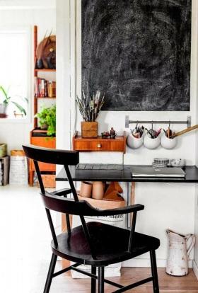 白色宜家风格书房书桌椅装修图片