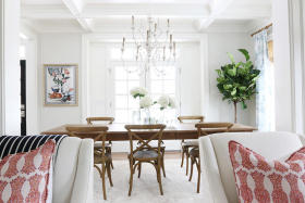 白色宜家风格餐厅装饰案例