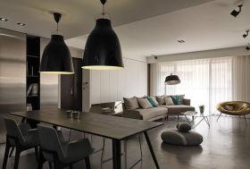 灰色现代风格餐桌设计案例