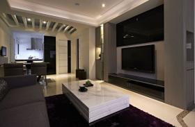 现代风格黑色背景墙装潢设计