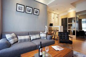 现代风格灰色时尚客厅装潢设计