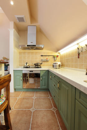 浪漫清新时尚欧式风格厨房设计欣赏