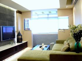 绿色简约风格客厅沙发设计图片