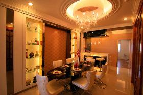 橙色温馨华丽简欧风格餐厅装饰案例