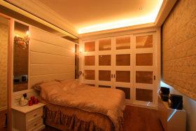 橙色简约风格卧室效果图赏析